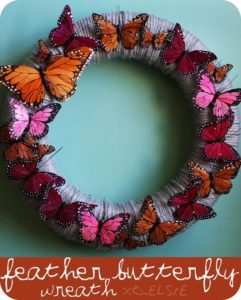 butterfly wreath on pinterest
