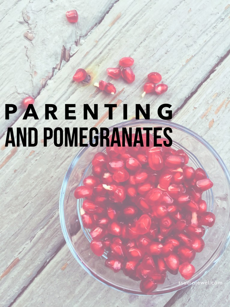 This job of parenting? Not easy. But the fact that we are allowed to participate - that we are allowed to raise other human beings? THAT is a gift...even though some days it feels like seeding a pomegranate. ~ StudioJewel.com ~