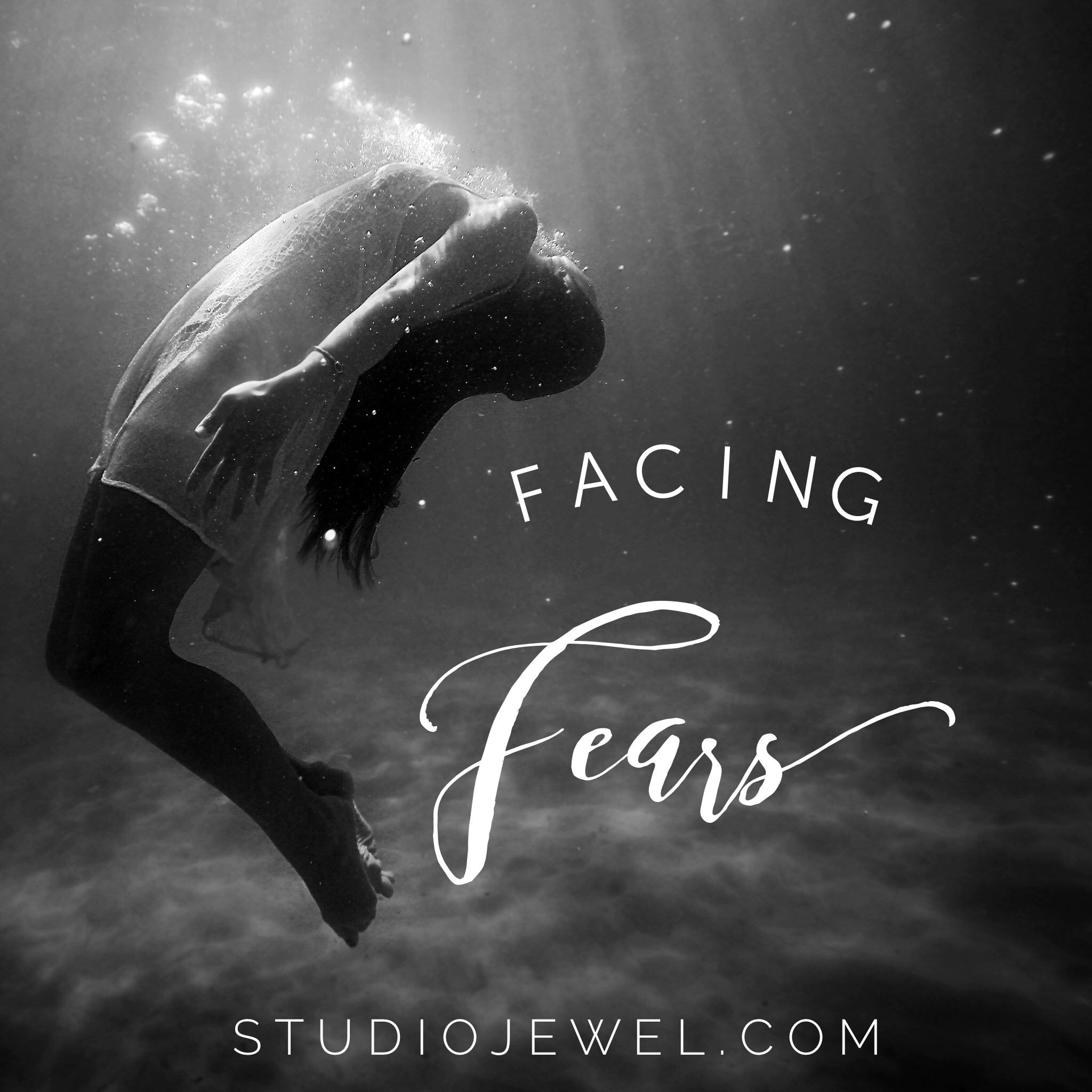 facing fear - Fear will trickle in unaware until it has taken up so much space you find yourself drowning when you didn't even realize you were swimming.