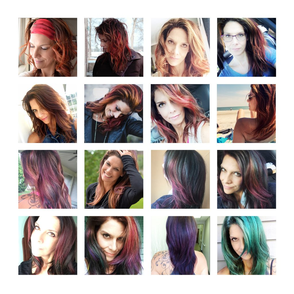 playing with extreme hair-color