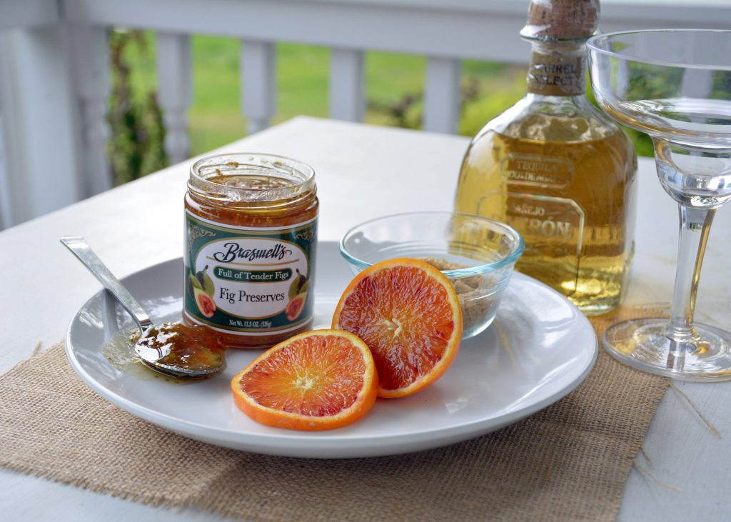 the perfect margarita for summer with fig preserves and blood oranges. easy to make too!