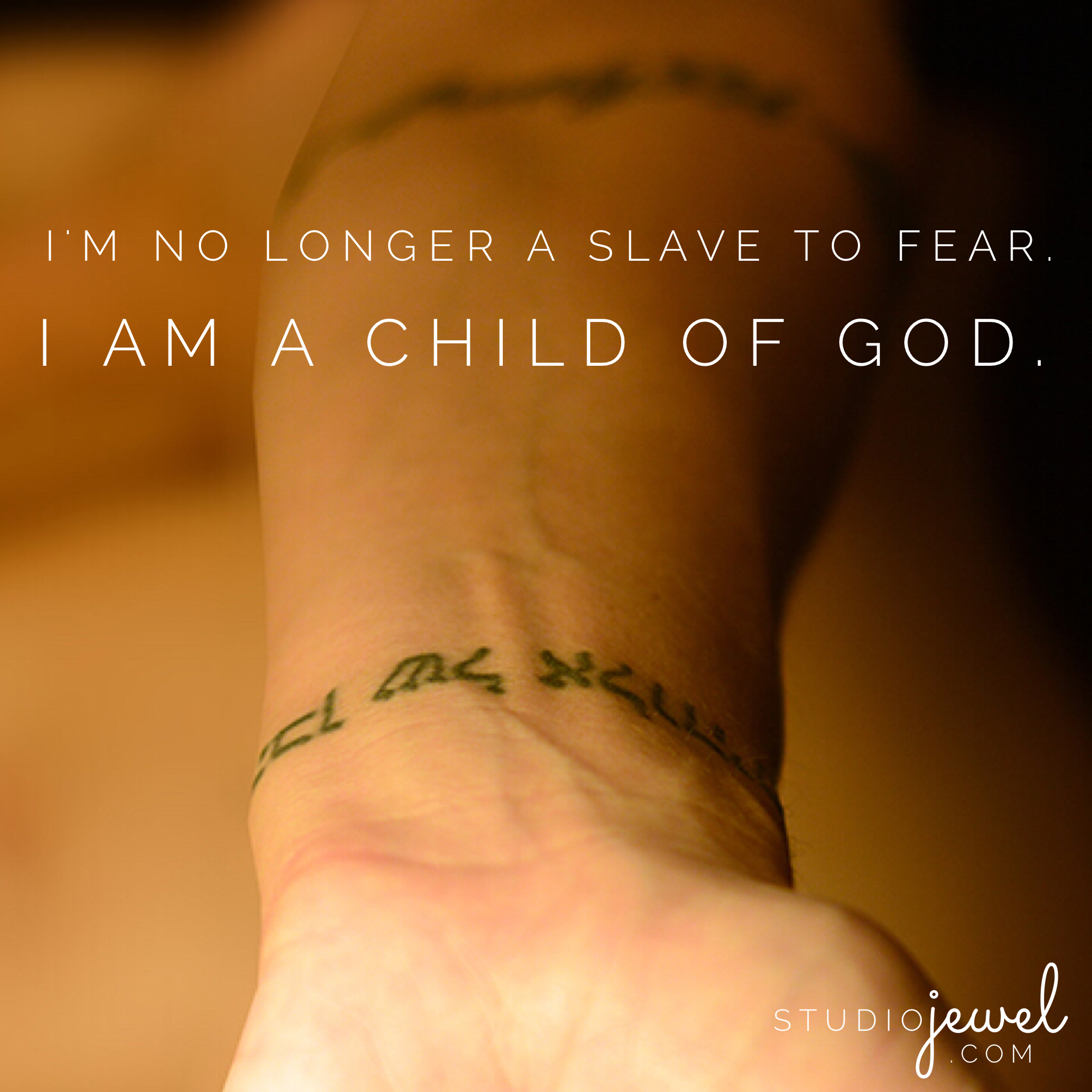 no longer slaves to fear bethel music child of God tattoo / the journey of success in God's eyes.