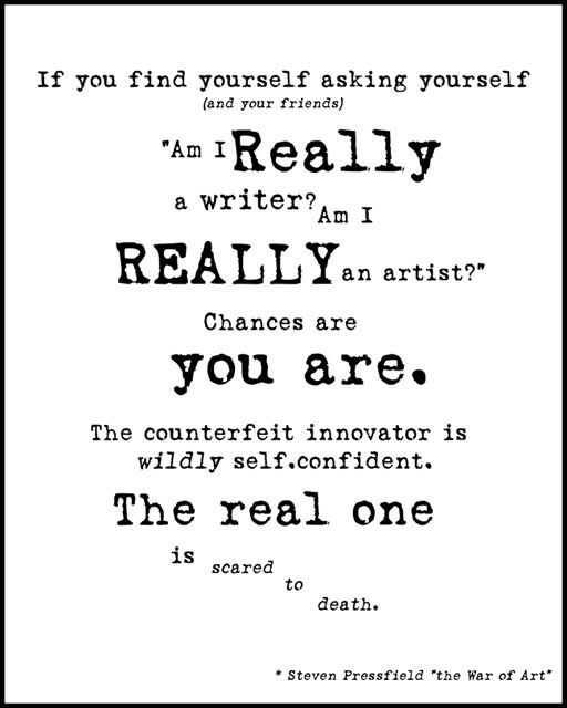 quote. i really am an artist. i know it.