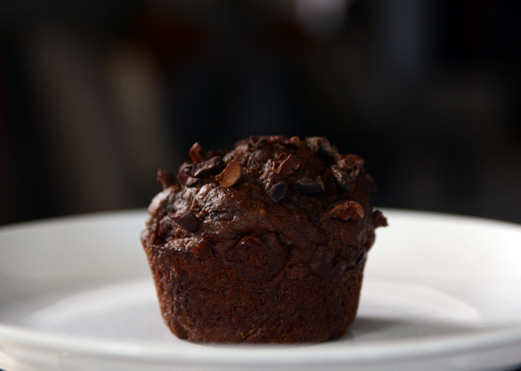 pumpking protein muffin - sugar free chocolate pumpkin muffin