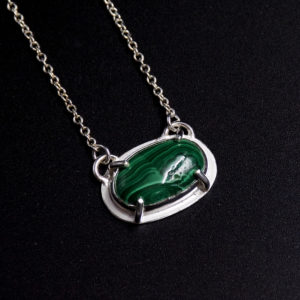 malachite pendant stone of transformation
